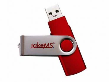 takeMS MEM-Drive Mini Rubber rot 32GB, USB 2.0 (TMS32GUMIR1R02)