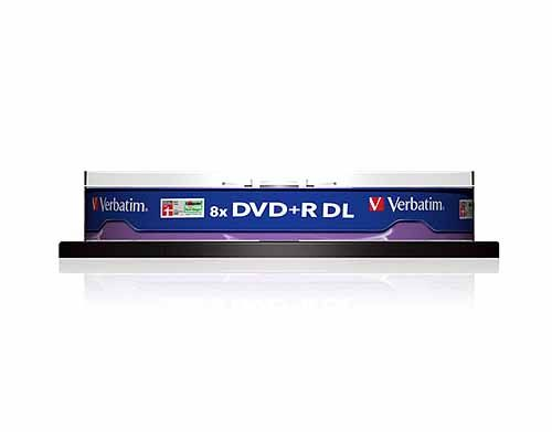 Verbatim DVD+R 8.5GB DL 8x, 10er Spindel (43666)